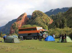 Bush camp, Kyrgyzstan