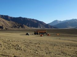 Pamir Highway camp